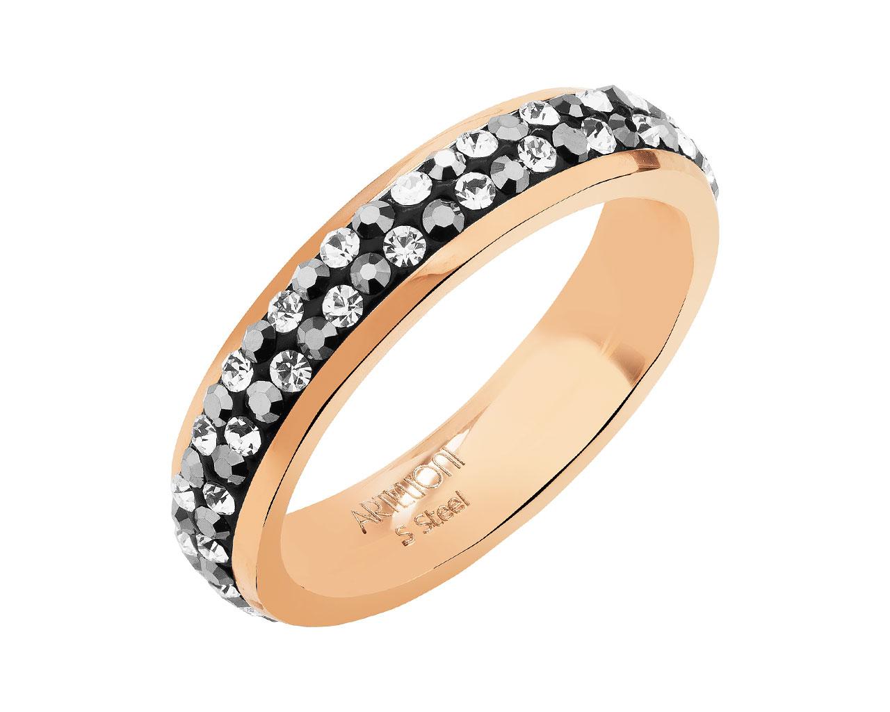 929ef5056da7c7 Pierścionek ze stali szlachetnej z kryształami / Artelioni